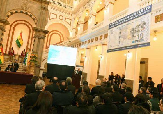 Presentan primera familia de billetes del Estado Plurinacional de Bolivia