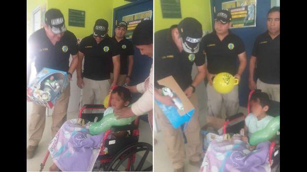 Los policías que investigaron el caso del niño al que su madre intentó matar, le dieron una sorpresa en el hospital