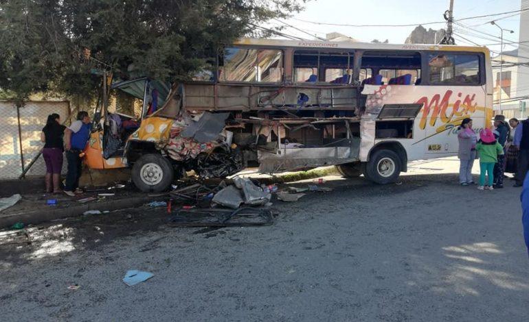 Múltiple colisión en Achumani deja un muerto y siete heridos