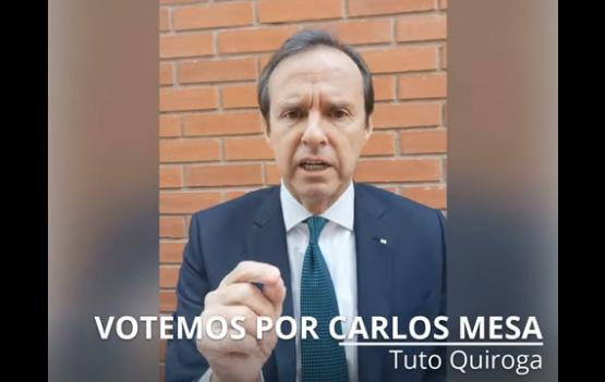Tuto Quiroga llama a votar por Mesa por un acto vital y de supervivencia democrática