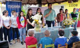Itacamba apoya refacción de escuela para niños que batallan contra el cáncer