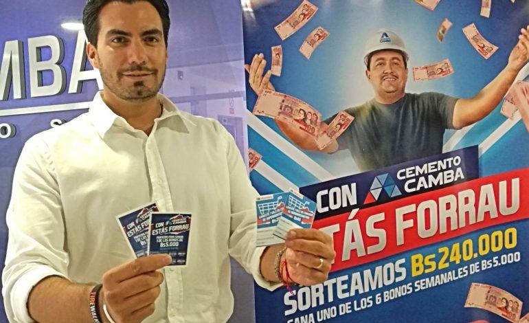Cemento Camba premia a trabajadores de la construcción con Bs. 240 mil