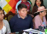 Loza anuncia que el 100% del Trópico se movilizará el 22 de manera pacífica
