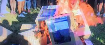 Queman al menos 20 ánforas en Colpa Bélgica, en medio de denuncias de acarreo de votos