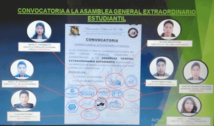 Policía revela la trama de poder y pugna de bandos que derivó en la tragedia de la UPEA