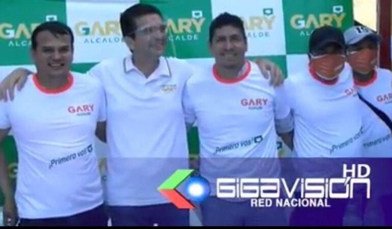 Gary Añez refuerza su campaña con 'Manacha' Cabrera y 'Bomba' Gutiérrez