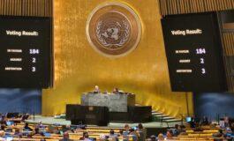 Asamblea de las Naciones Unidas aprueba resolución contra el bloqueo de EEUU a Cuba por 184 votos a favor