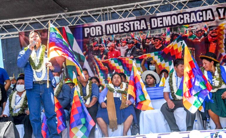 Arce advierte a opositores: 'Si no quieren respetar en las urnas, nos vamos hacer respetar en las calles'