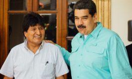 Morales pide a Maduro mucha fuerza: sólo hay dos caminos, estamos con el imperio o con el pueblo