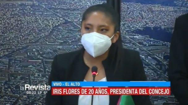 Con sólo 20 años, Iris Flores asume la presidencia del Concejo de El Alto
