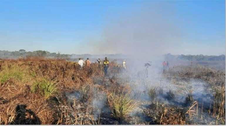 Fuego arrasa 7.416 hectáreas en San Matías