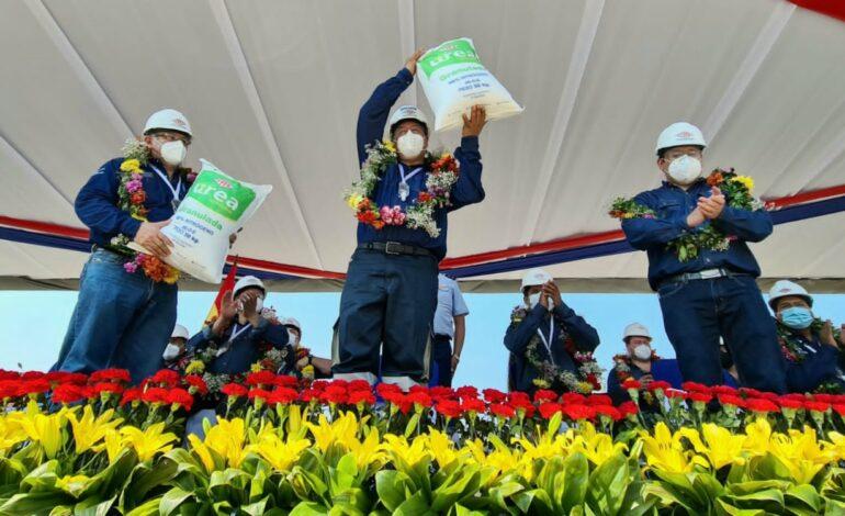 Planta de Amoniaco y Urea prevé producir 590.000 toneladas de fertilizante en un año
