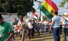 La marcha indígena se dirige a la plaza 24 de Septiembre a la espera del diálogo con el Gobierno